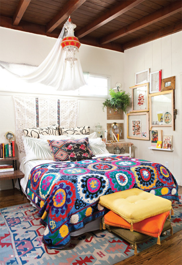 Small bohemian bedroom design for Designer inspired bedding