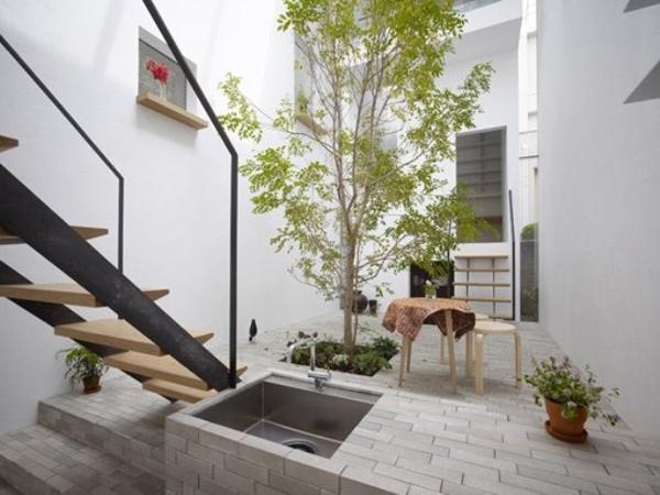 Under Stair Indoor Courtyard Garden