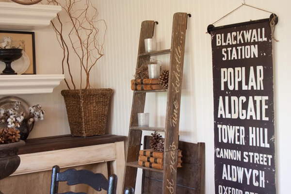 20 Vintage Ladder With Practical Ideas | Home Design And Interior