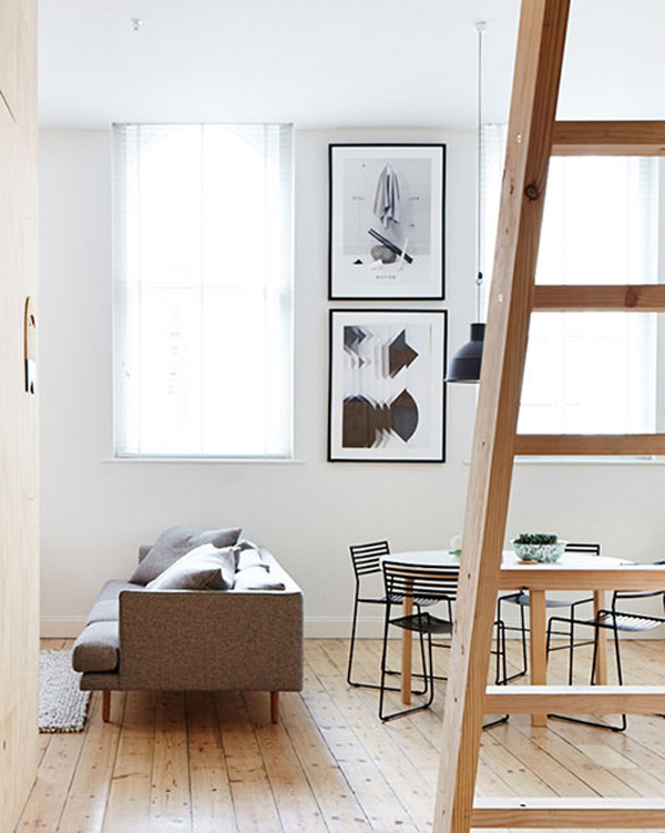Small apartment with full wood in melbourne home design for Apartment design melbourne