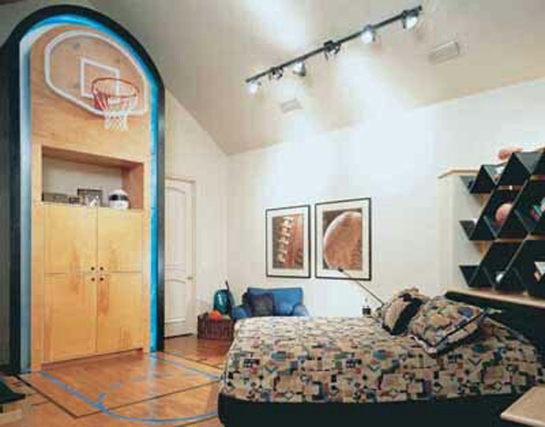 20 sporty bedroom ideas with basketball theme home design and interior - Cool teen boy bedroom ideas ...