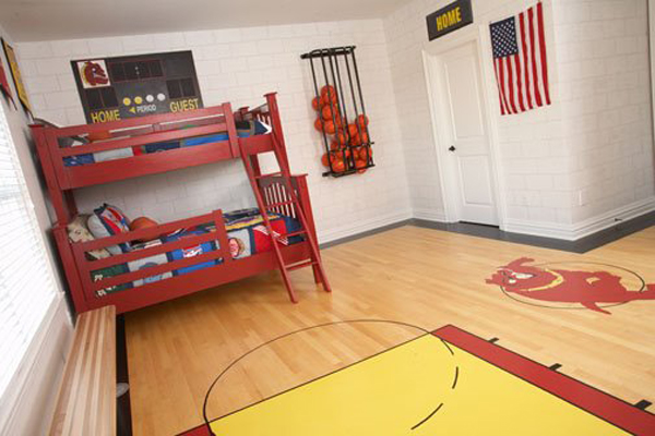 basketball themed bedrooms 20 sporty bedroom ideas with basketball theme home 10183