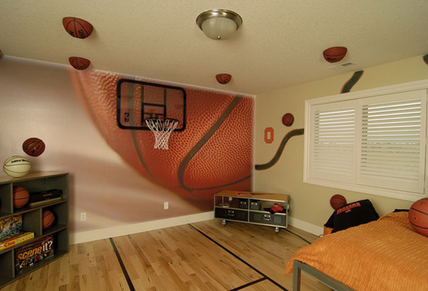 basketball decor for bedroom basketball wall murals 14098