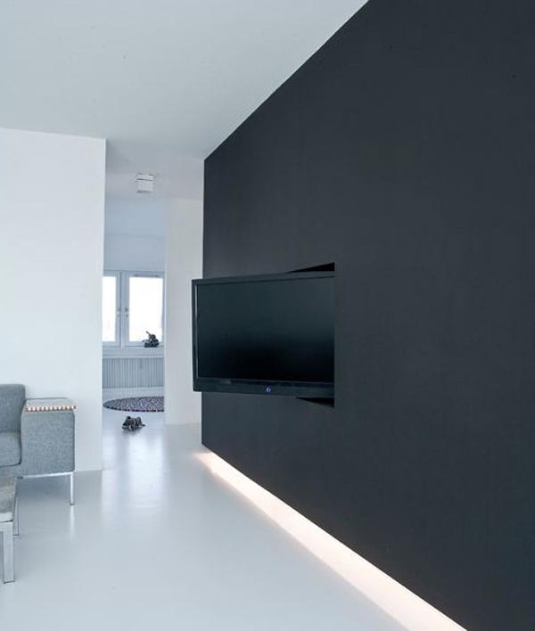 black tv wall hidden designs