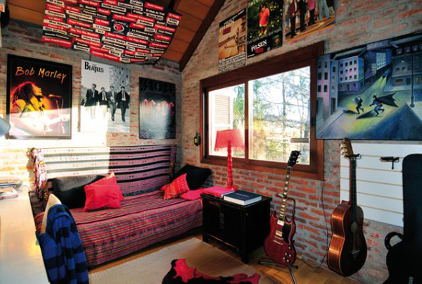 20 punk rock bedroom ideas home design and interior for Bedroom ideas music