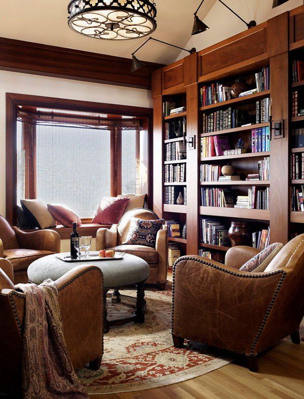 Contempory-home-library-ideas