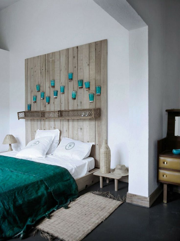 Cool Headboard Wooden Pots