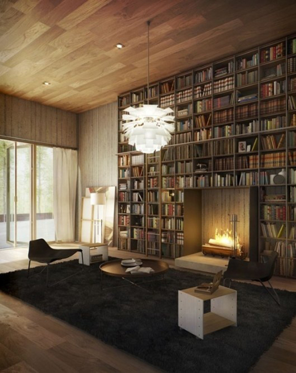 Cool Home Library: 35 Coolest Home Library And Book Storage Ideas