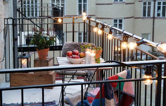 balcony lighting home design and interior