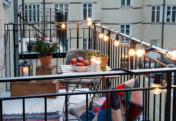 Balcony Lighting Decorating Ideas 15 Small S