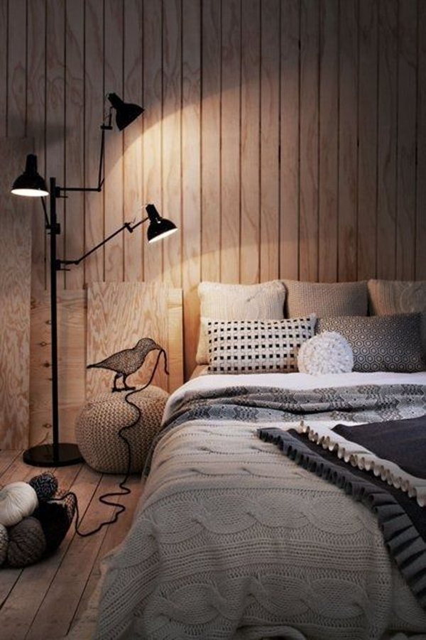 Cozy Bedroom With Timber Feature Wall