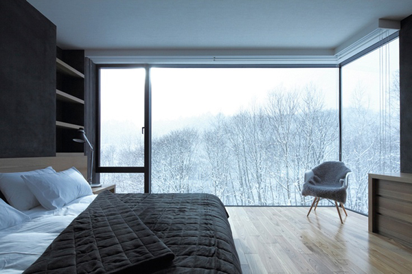Cozy winter bedroom with open view - Winter bedroom decor ...