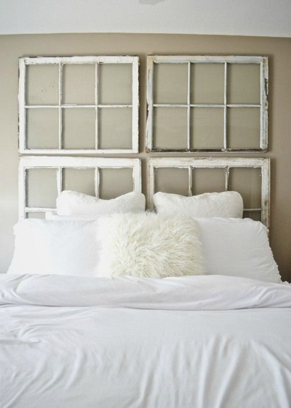 Diy Vintage Antique Window Headboard Homemydesign