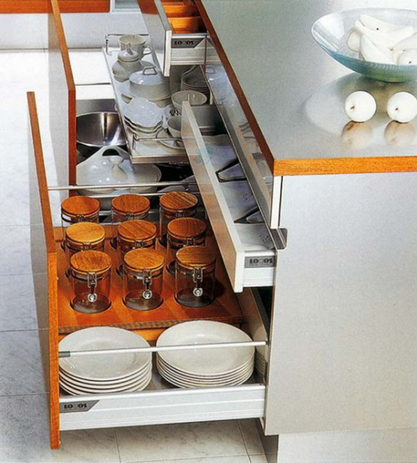 Kitchen Cabinet Organization Ideas: 35 Functional Kitchen Cabinet With Drawer Storage Ideas