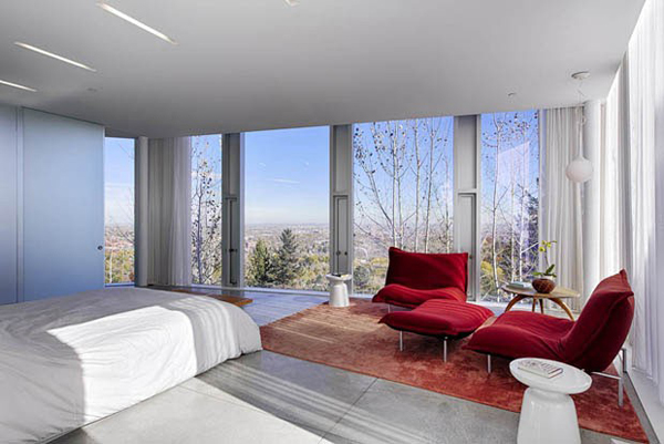 images of contemporary bedrooms glass house with 360 degree view of the mountain home 15627