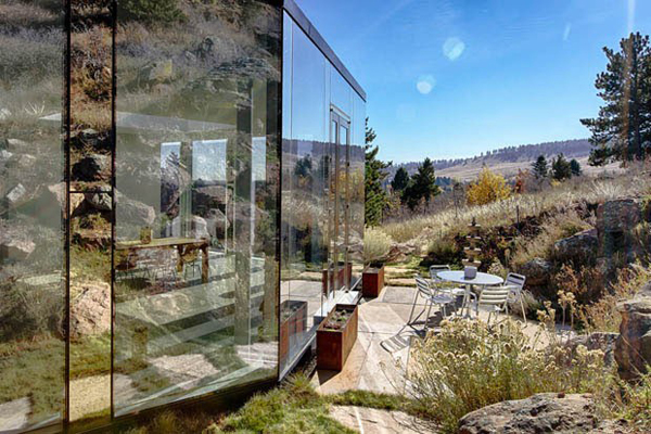 Glass house with 360 degree view of the mountain home for House 360 view
