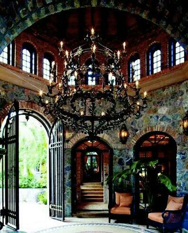 Gothic chandelier design for Interior designs victorian style home furnishings