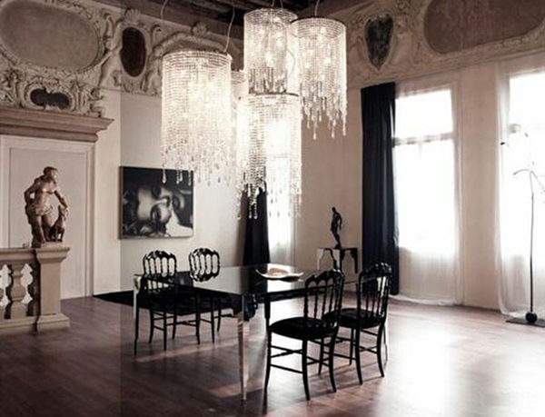 35 dark gothic interior designs home design and interior for Lighting dining room ideas