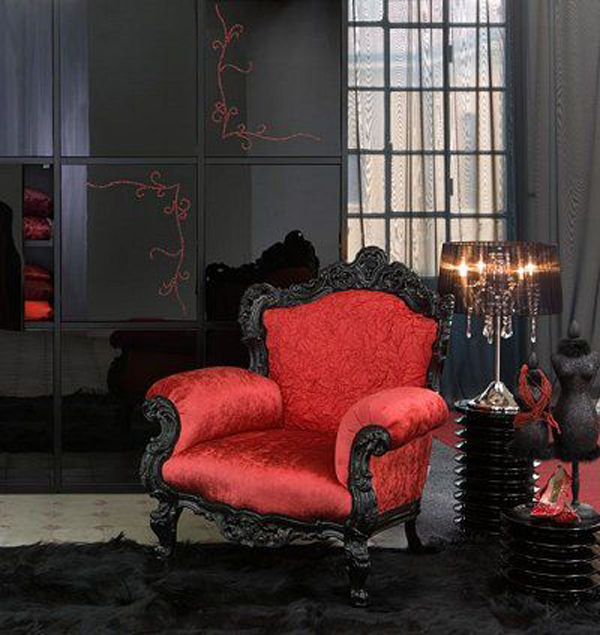 Red And Black Room Decor Ideas: 35 Dark Gothic Interior Designs