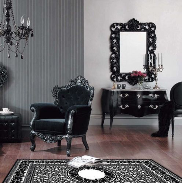 35 dark gothic interior designs home design and interior. Black Bedroom Furniture Sets. Home Design Ideas