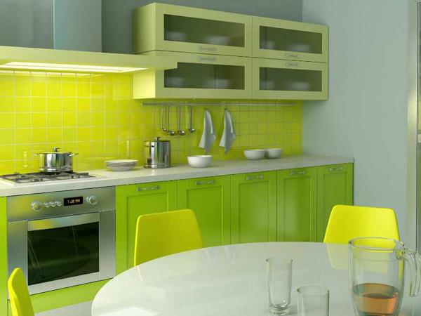 green kitchen interior designs