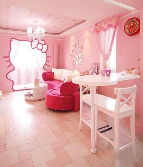 25 Bedroom Design Ideas For Your Home: 25 Hello Kitty Bedroom Theme Designs
