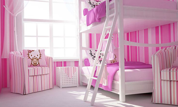 Hello-kitty-bunk-beds