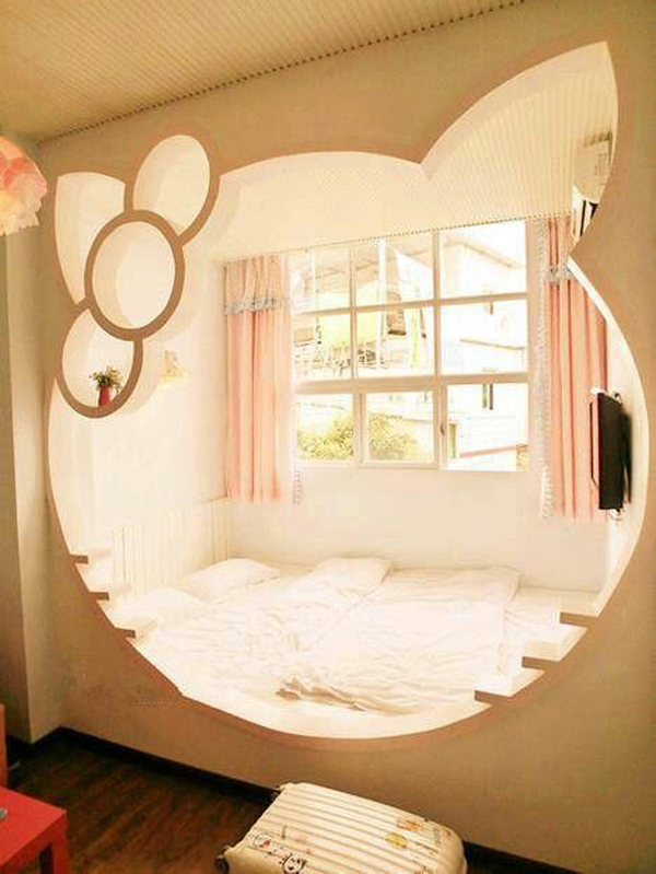 25 Hello Kitty Bedroom Theme Designs Home Design And Interior - Hello-kitty-bedroom-set-interior
