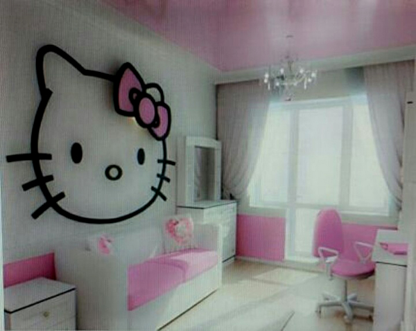 Hello Kitty Pastel Bedroom Decor