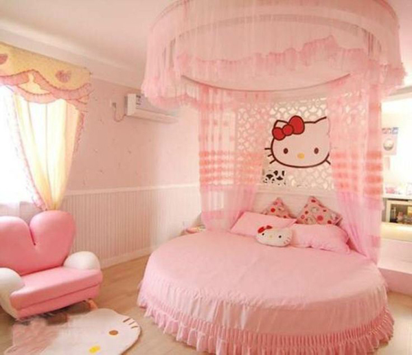 25 Bedroom Design Ideas For Your Home: Hello-kitty-pink-bedroom-decorating