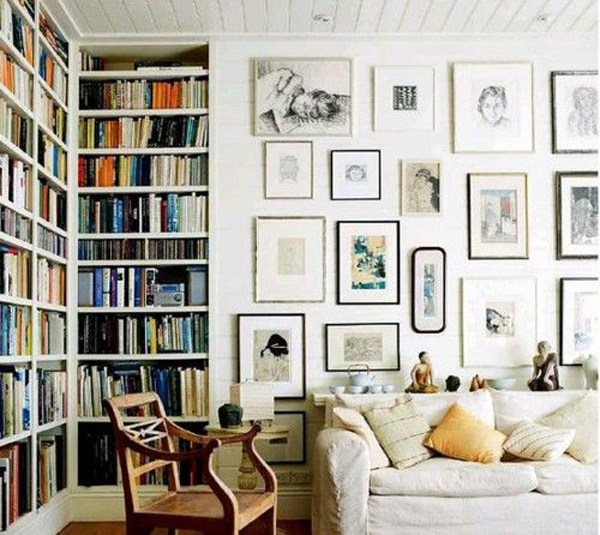 Home library gallery wall for Home design picture gallery