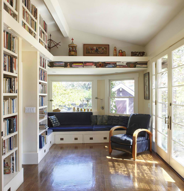 Home Design Ideas Book: Home-library-open-space-ideas