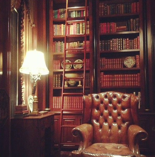Home-library-with-leather-sofa