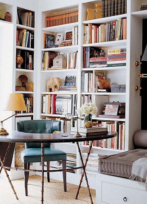 Contemporary Home Library Design: Home-office-library