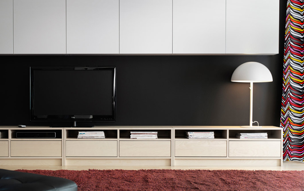 25 stylish ikea tv and media furniture home design and interior. Black Bedroom Furniture Sets. Home Design Ideas