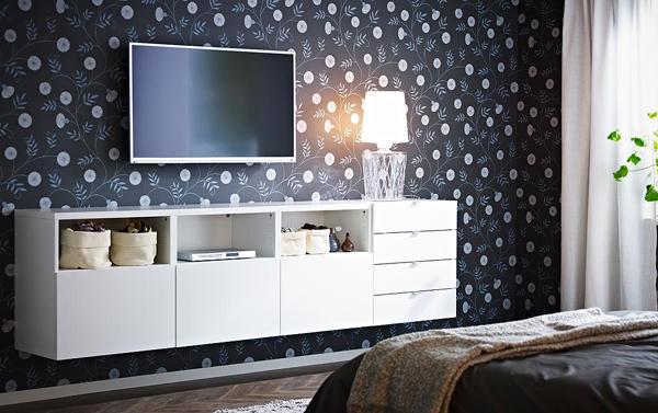 Ikea Tv Wall Bedroom Furniture