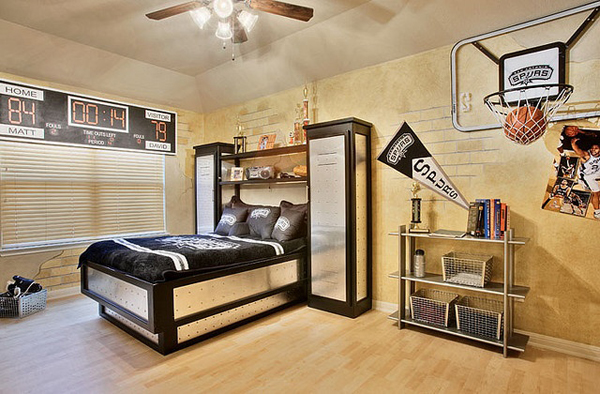 20 sporty bedroom ideas with basketball theme home for Interior theme ideas