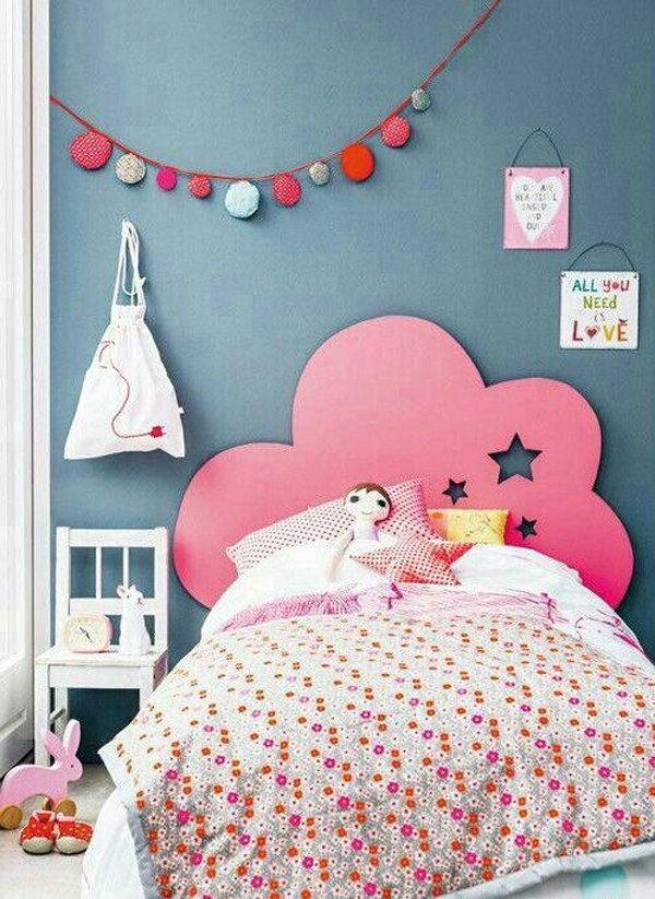Kids headboard ideas for Chambre de petite fille