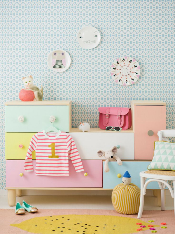 Kids pastel furniture ideas for Kids room couch