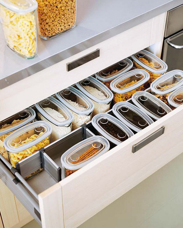 35 functional kitchen cabinet with drawer storage ideas - Organizador de cajones ikea ...