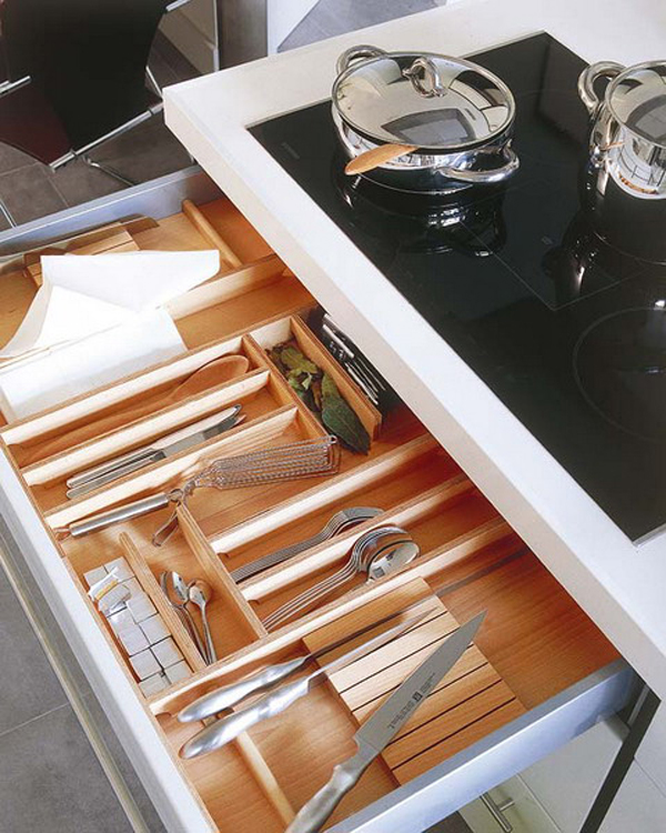 Storage Ideas For Deep Kitchen Drawers: Kitchen-drawer-storage-designs