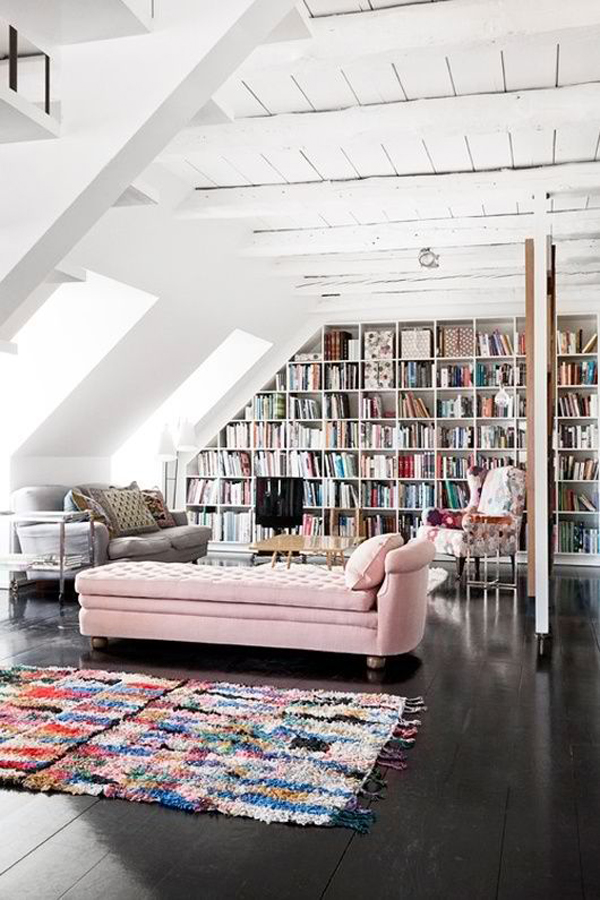 Home Library Loft: 35 Coolest Home Library And Book Storage Ideas