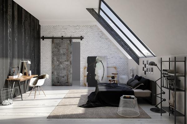 Loft Sliding Bedroom Door Ideas