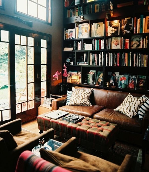 35 coolest home library and book storage ideas home for Cozy reading room design ideas