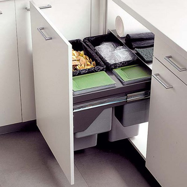 Modern kitchen drawer rack design Handleless kitchen drawers design