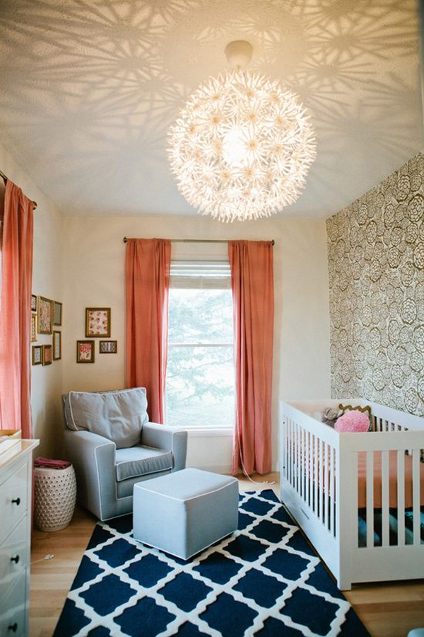 Modern Nursery Room With Lighting