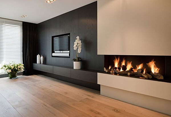 Modern Tv Wall With Fireplace