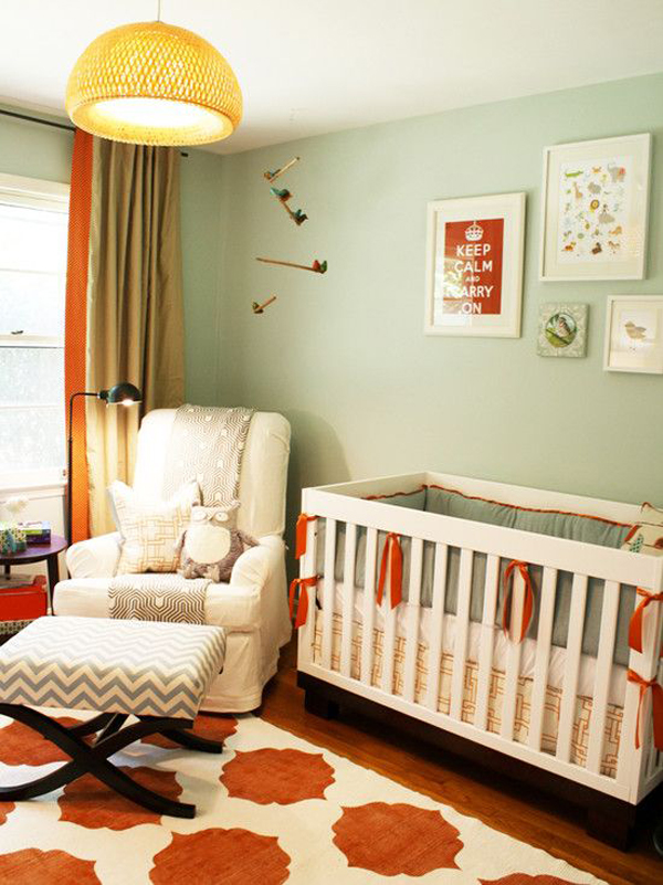 Wall Colours Combination: 25 Minimalist Nursery Room Ideas