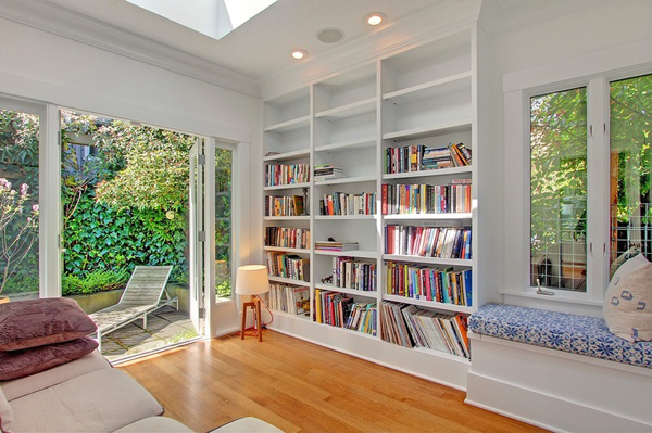 Outdoor home library ideas for Home library ideas design