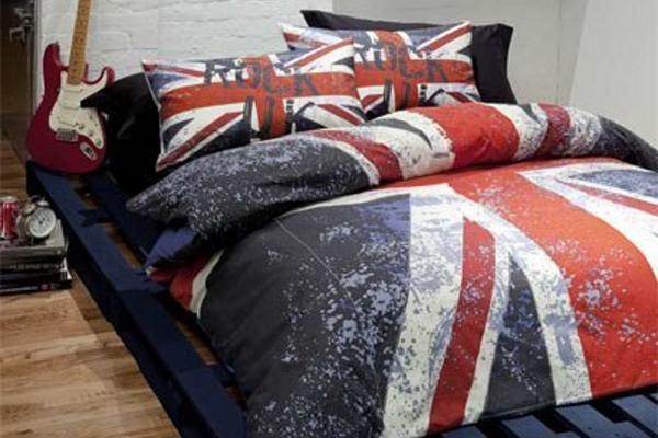 Punk rock bed linen uk for Rock bedroom designs